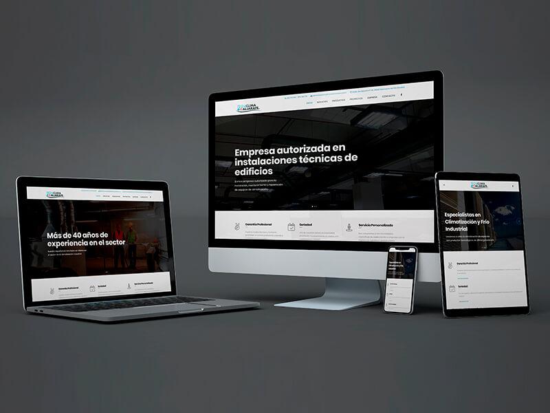 Diseño web en Sevilla - Tecniclima