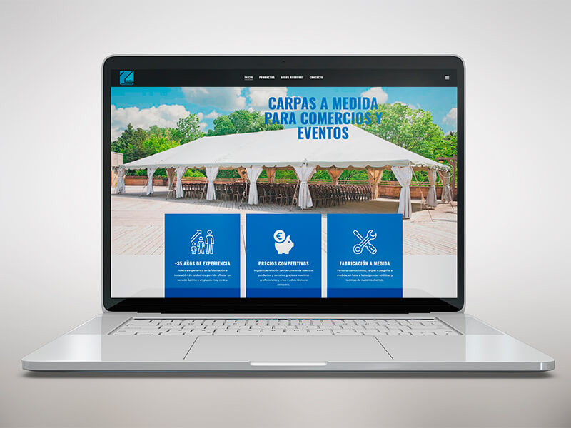 Diseño web en Sevilla - Toldos Zamorano