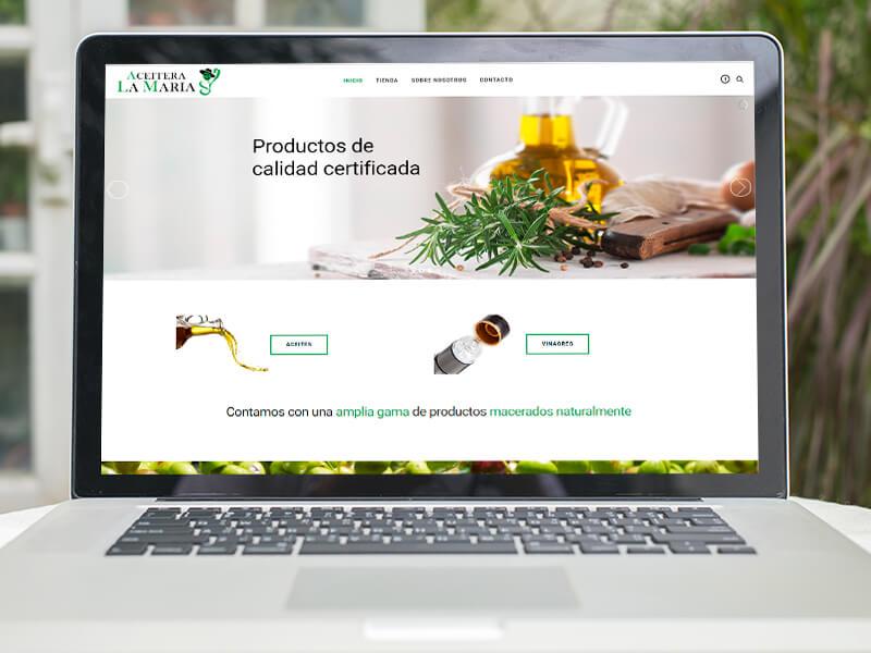 Diseño de tienda online Sevilla - Aceitera