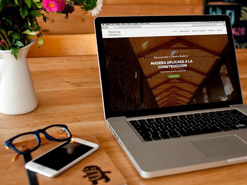 Diseño web en Sevilla - Tecnia Madera